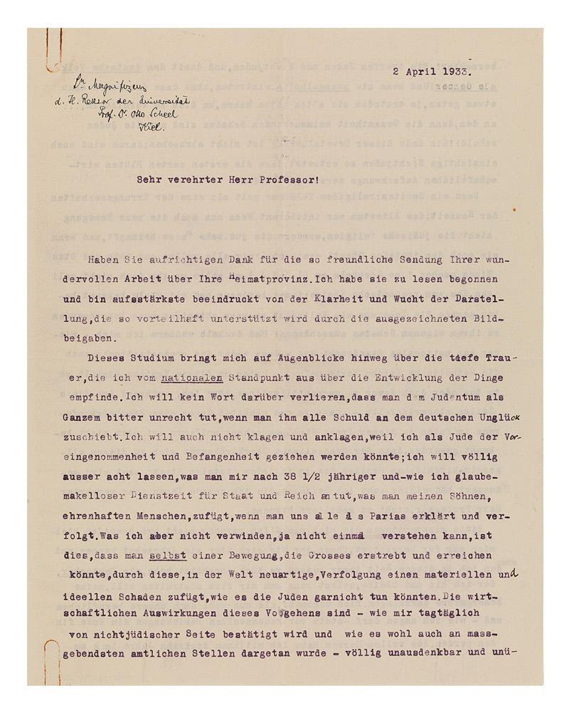 Jüdisches Museum Berlin Online Schaukasten Brief Von Fritz
