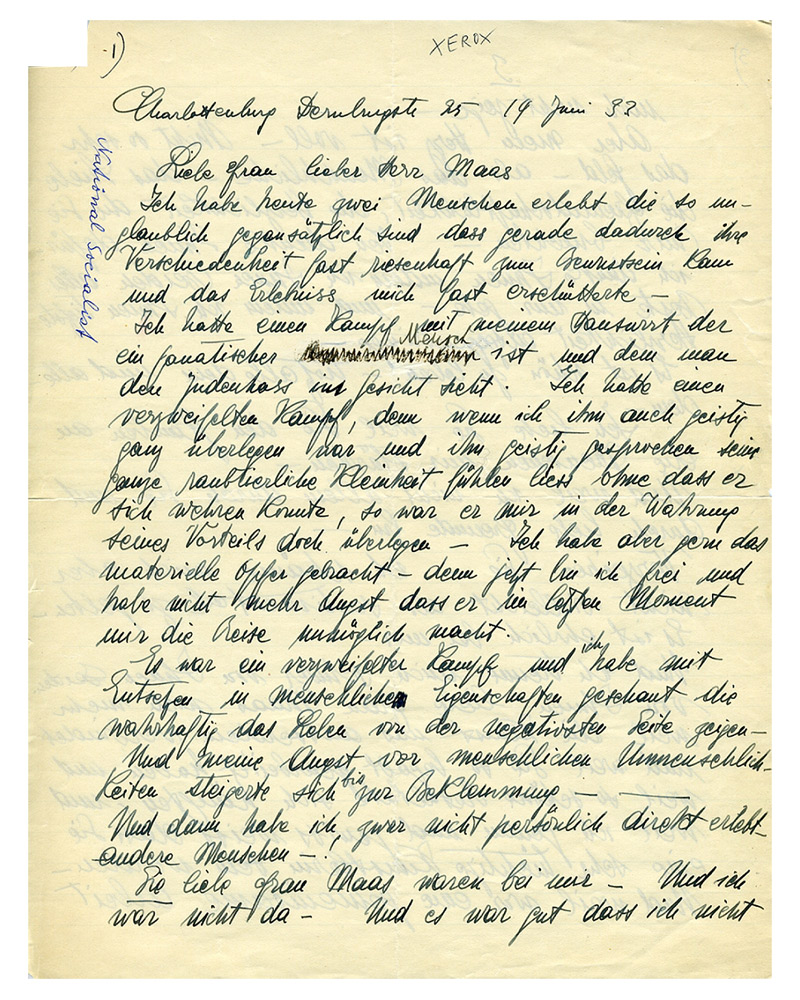 Jüdisches Museum Berlin: Online-Schaukasten - Brief des