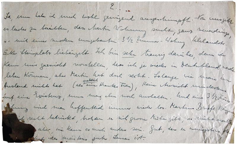 Jüdisches Museum Berlin Online Schaukasten Brief Von Charlotte