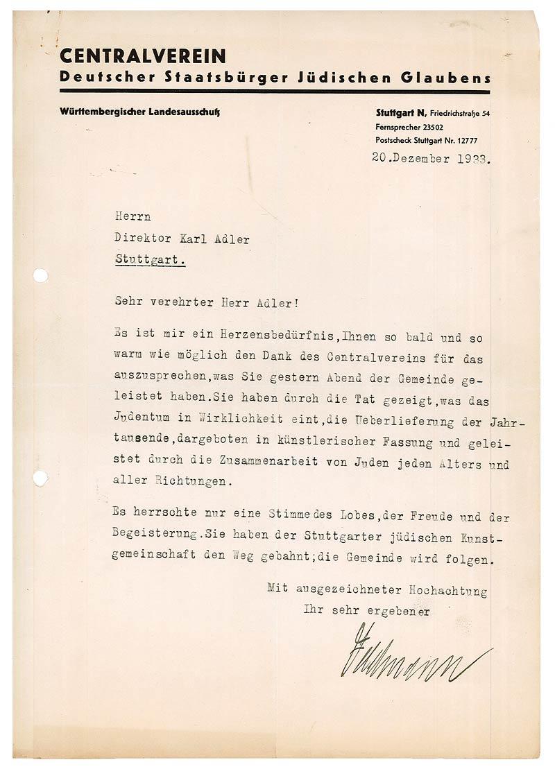 Jüdisches Museum Berlin Online Schaukasten Brief Von Gustav