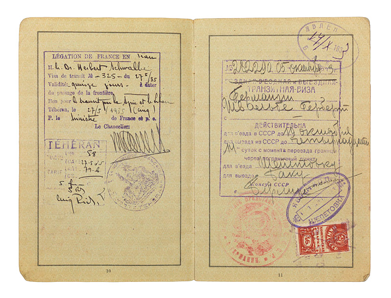 Passport issued to Dr  Herbert Schwalbe « 1933