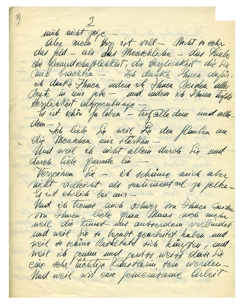 handwritten sheet of paper
