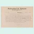Closely typed sheet of paper bearing the letterhead of the Reich Association of Dentists