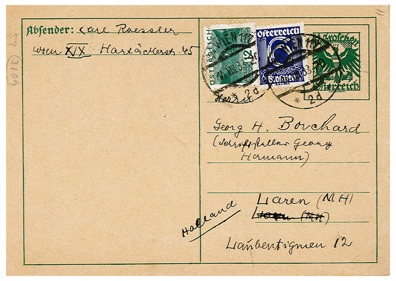 address on a postcard