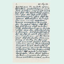 Letter written in blue ink in Sütterlin script