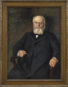 Portrait painting of a man