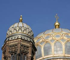 The synagogue�s two domes
