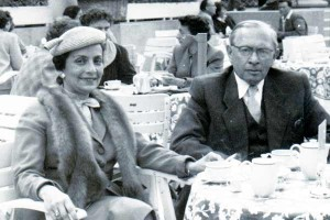 Couple seated at a café