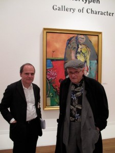 David Hockney with Eckhart Gillen at the exhibition R.B. Kitaj – Obsessions