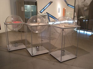 "Photo of so called ""ravioli"" display windows in the permanent exhibition"