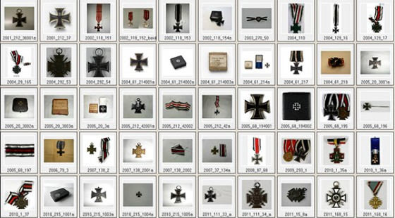 50 squares with iron crosses