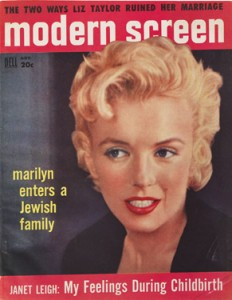 Picture iMarilyn Monroe on the cover of the Modern Screen Magazine