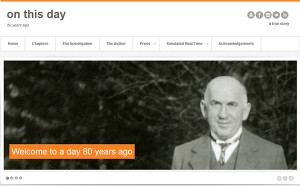 "Screenshot of the website ""onthisday80yearsago"""