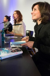the three authors during the author reading and signing their book
