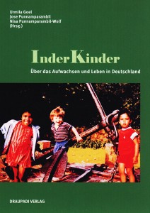 "Cover of the book ""InderKinder"" (Indian-children) with a picture of playing children"