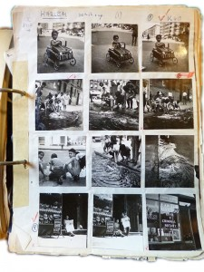 A contact sheet with 12 pictures of Harlem