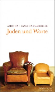 "Book cover ""Juden und Worte"" with a picture two armchairs"