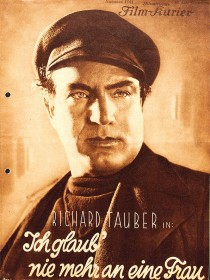 Cover of the Illustrated Film Courier showing a man with a cap