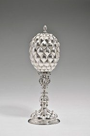 photograph of a silver cup