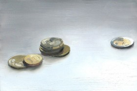 Painting of coins