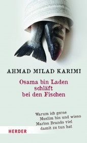 Bookcover with two fish wrapped in a newspaper