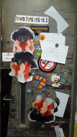 "Atelier Door with ""Kosher Gnome"""