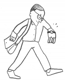 Illustration of a journalist
