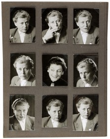 Series of photos with eight portraits of Renate Noack and one portrait of Olga Irén Fröhlich, probably Bremen, between 1953 and 1960 © Jewish Museum Berlin, gift of the Verein Lastoria e.V. Bremen