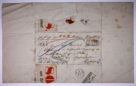 Letter from 19th century adressed to Emanuel Mendel