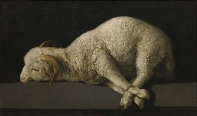 A painted lamb