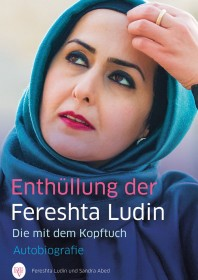 Book cover with a photo of a woman with head scarf