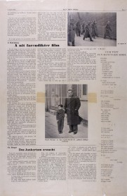 "A page of the newspaper ""OJF DER FRAJ"""