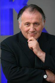 Portrait photograph of Peter Weibel