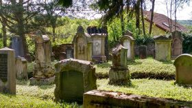 Gravestones on a jewish cementery
