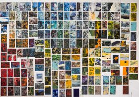 Installation of 200 oil paintings