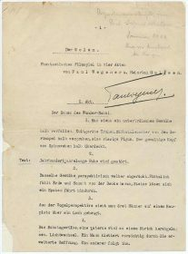 """Typescript in German <span lang=""""de"""">""""Der Golem. Phantastisches Filmspiel in vier Akten von Paul Wegener u. Heinrich Galleen""""</span>"""