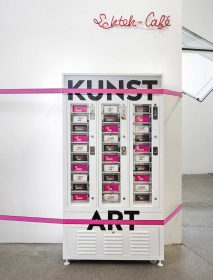 The art vending machine in the permanent exhibition.