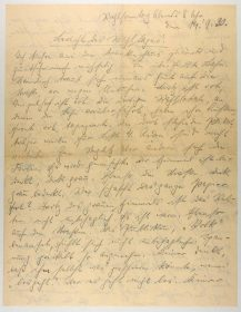 Photo of the hand-written document mentioned in the blog post