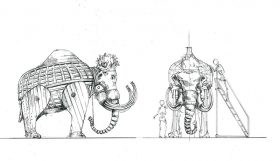 scetches of elephants