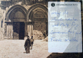 Postcard with handwriting