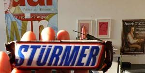 Schokoladenriegel mit der Aufschrift »STÜRMER«