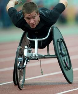 Sportler im Rollstuhl