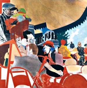 Gemälde mit großer Menschenzahl