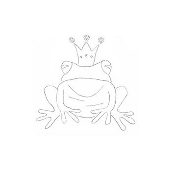 Zeichnung eines Frosches