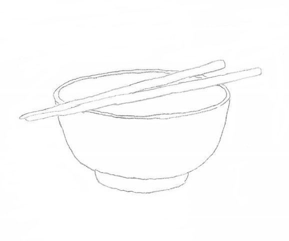 Suppenschüssel mit Stäbchen