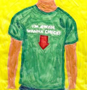 Bild eines T-Shirts mit anzüglichem Aufdruck