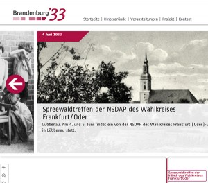 Screenshot des Internetauftritts von »brandenburg33«