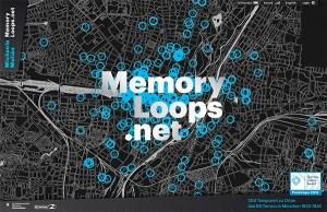 Screenshot des Online-Projekts »memoryloops«