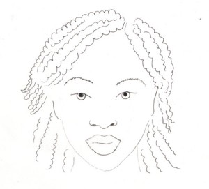 Zeichnung von Naomi Campbell © Naomi Lubrich