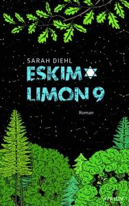 Buchcover des Romans Eskimo Limon 9, auf dem ein Wald vor einem schwarzen Nachthimmel mit Sternen zu sehen ist